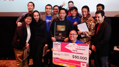 Juara Startuppedia ASEAN, Ahlijasa Diganjar Rp 650 Juta