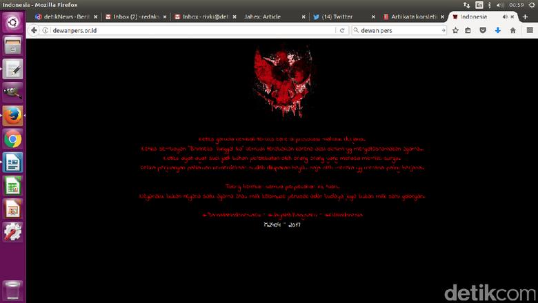 Babak Belur Situs Pemerintahan Down Oleh Hacker