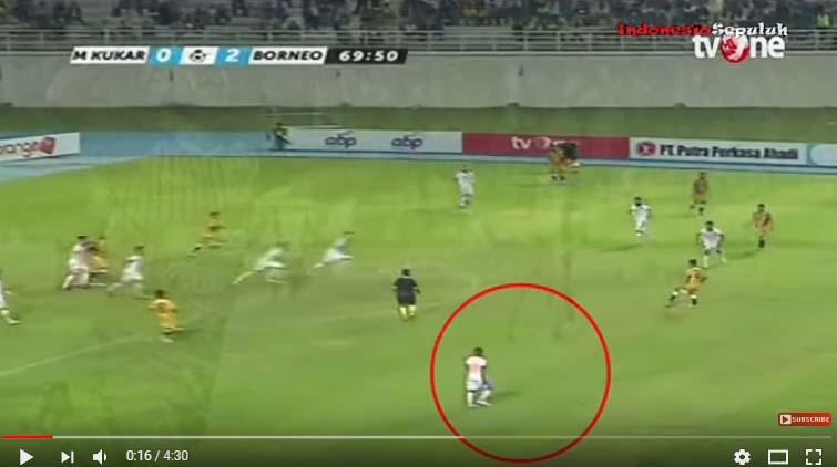 Lagi Viral, Gol Kelas Dunia Terens Puhiri dari Borneo FC